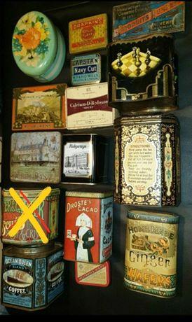 Caixas de lata antigas