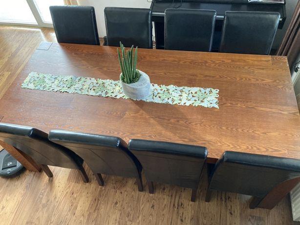 Stół ekskluzywny duży 220x100 Vinotti + krzesła 8 szt