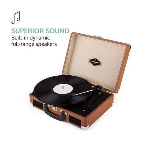Auna Gramofon w stylu retro LP USB brązowy