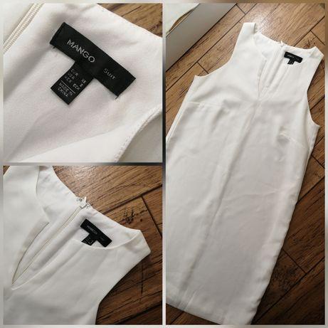 Шикарное белое платье от MANGO размер xs