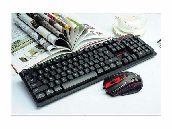 Клавиатура, Беспроводная игровая клавиатура и мышка в комплекте