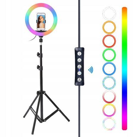 Lampa Pierścieniowa LED ring RGB statyw 160CM