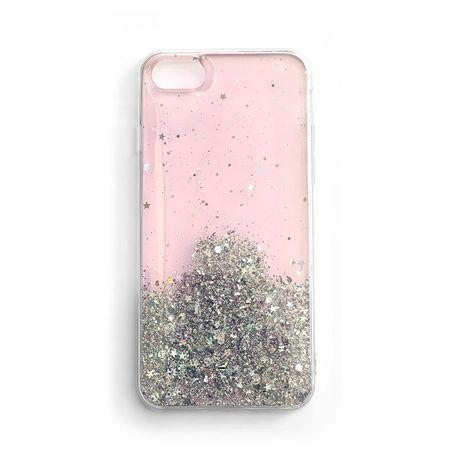 Capa Star Glitter Shining Iphone 8 Plus / Iphone 7 Plus Cor-De-Rosa
