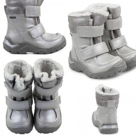 Зимние саплги Ecco Snowride 29 размер Gore Tex серебро для девочки