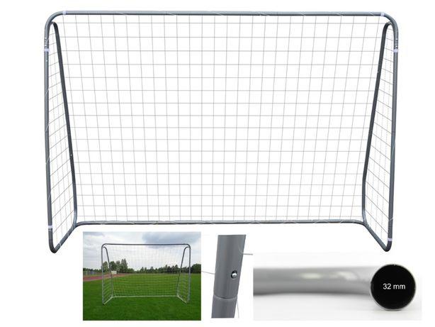 Bramka piłkarska o wymiarach 240 x 170 x 85 cm średnica rur 32 mm