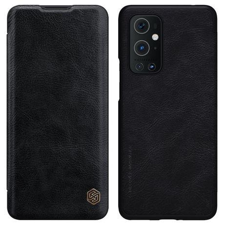 Capa Nillkin Qin Original Leather Cover Oneplus 9 Pro Preto