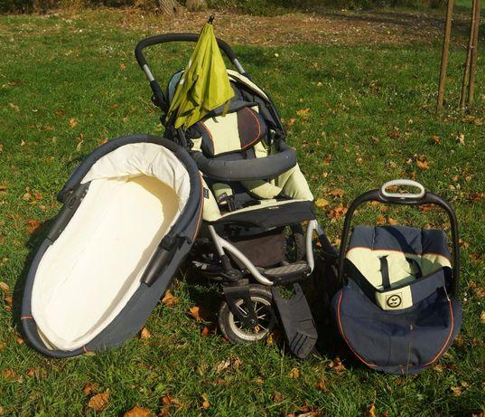 Wózek 3 w 1 xlander, spacerówka, gondola, cały zestaw