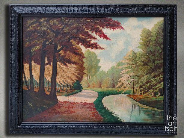 Stary obraz olejny - DUŻY - Eberhard Werner