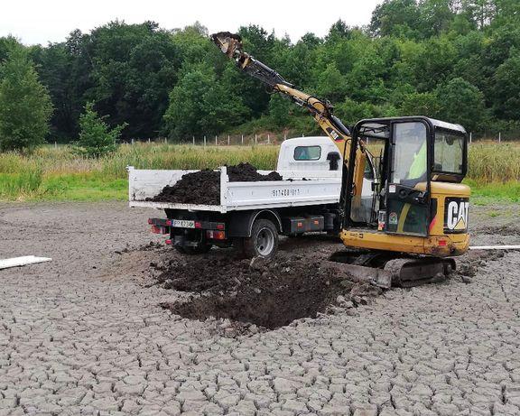prace ziemne minikoparka koparka wywrotka drenaż niwelacja terenu