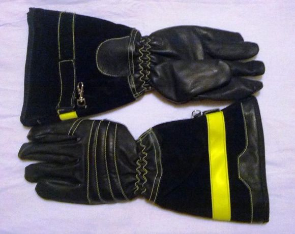 Luvas SEIZ, kevlar, resistência ao corte, couro, de trabalho, Bombeiro