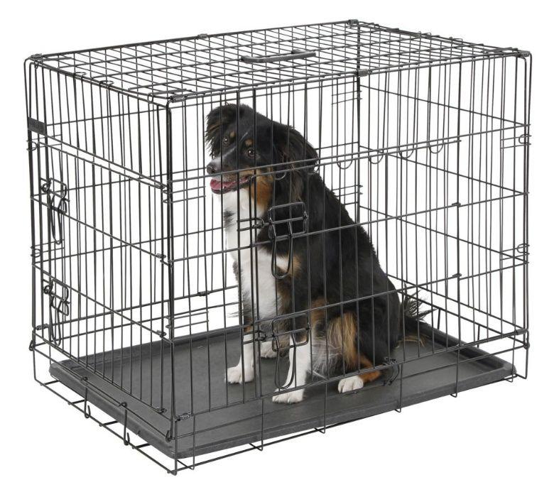 Novo! Dog Crate Jaula Transportadora Metálica com 2 Portas Amora - imagem 1