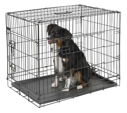 Novo! Dog Crate Jaula Transportadora Metálica com 2 Portas