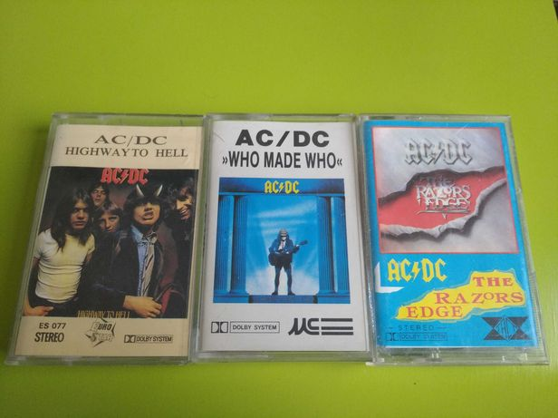 AC/DC trzy kasety