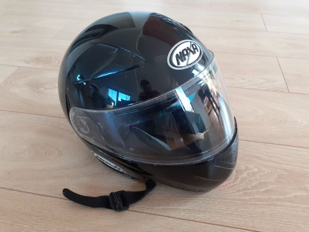 Kask szczękowy motocyklowy L z okularami