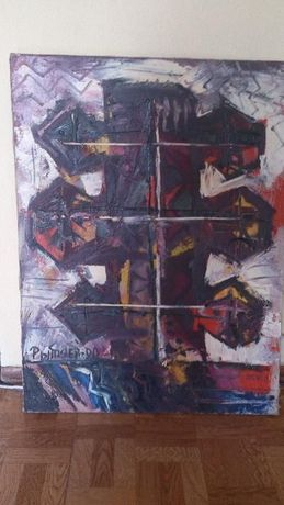 Коллекционная картина-авангард М.Рытяева 90й год