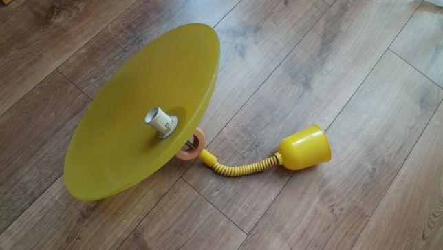 Lampa wisząca, żółty klosz