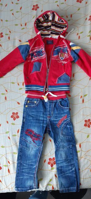 Костюм ( джинсы и кофта) на 2 годика