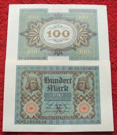 ** Banknot 100 MARK 1920 ROK STARE NIEMCY !!! Stan Bankowy UNC !!!