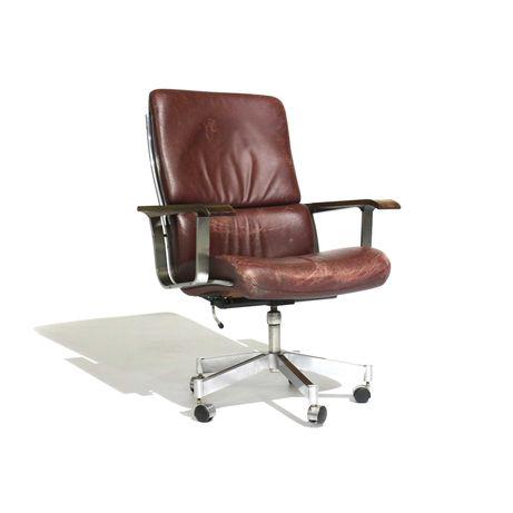 Cadeira de Escritório Sibast em Couro | Fall Vintage Edition -10%