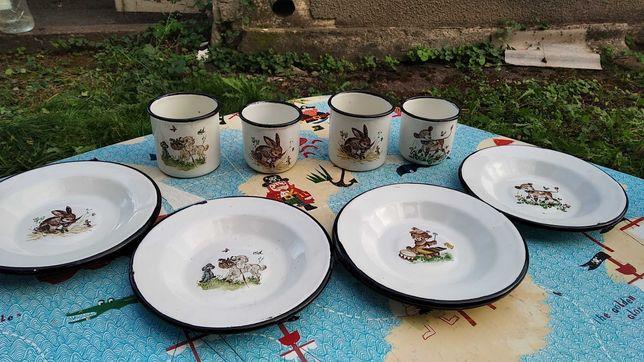Детская посуда (тарелки, кружки, эмалированная посуда)