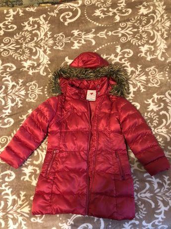 Зимня куртка на дівчинку, 104-110 р.
