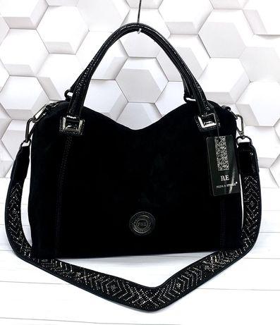 Шикарная женская замшевая сумка,  сумочка натуральная кожа/ замш.