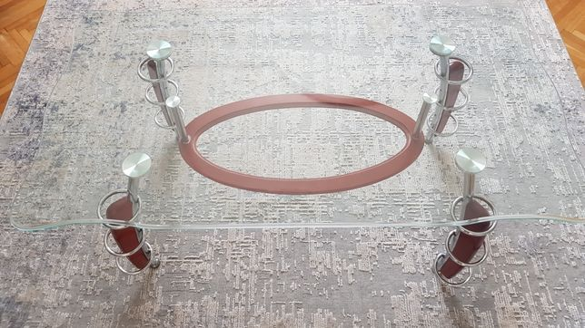 Продам журнальний скляний столик