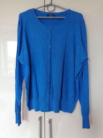 sweterek wytłaczany wzór chaber rozpinany 48/50