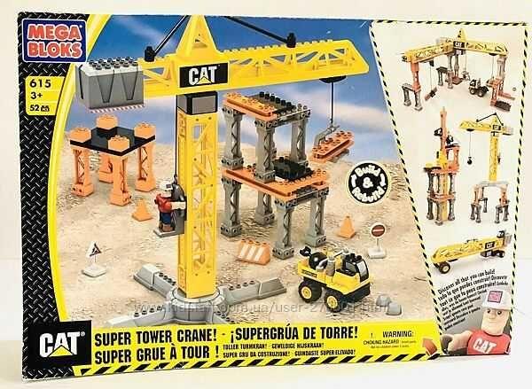 Башенный кран Mega Bloks CAT