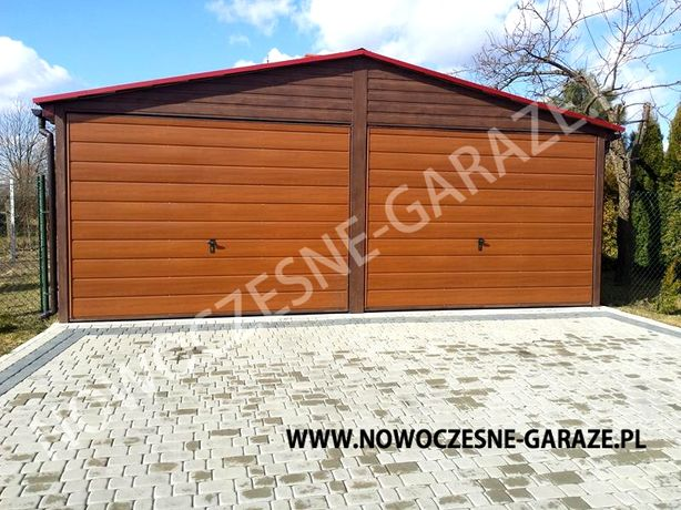 Garaż blaszany drewnopodobny! PROFIL ZAMKNIĘTY! Nowość 6mx5,80