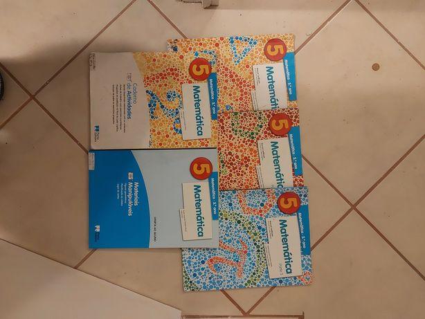 Livros matemática 5 ano porto editora (portes incluidos)