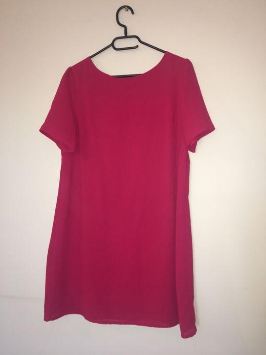 Różowa oversize midi sukienka Inowrocław - image 1