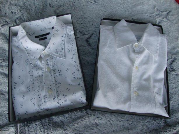 Zestaw 2 sztuki koszula długi rękaw biała XL.