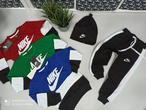 Dres Nike 3 częściowy bluza spodnie czapka 98-146