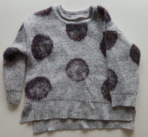 Sweterek ZARA dla dziewczynki roz. 110