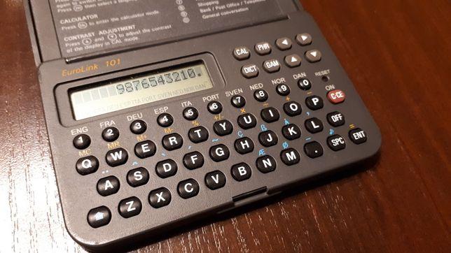 Stary tłumacz translator Eurolink 101 Zeon Tech PRL kalkulator słownik