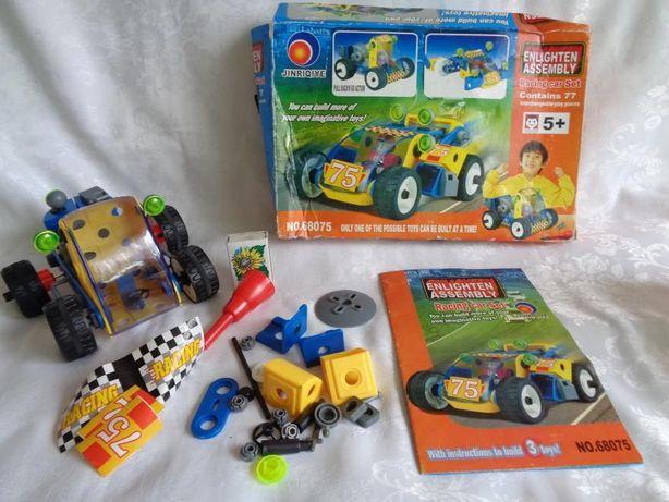 Klocki konstrukcyjne-Racing Car Set-niekompletne