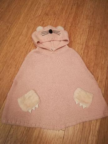 Sweter Poncho H&M rozm 134/140