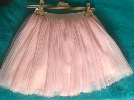 Продам юбку-сетку плиссе на подкладке 8-11 лет рост 152 розового цвет