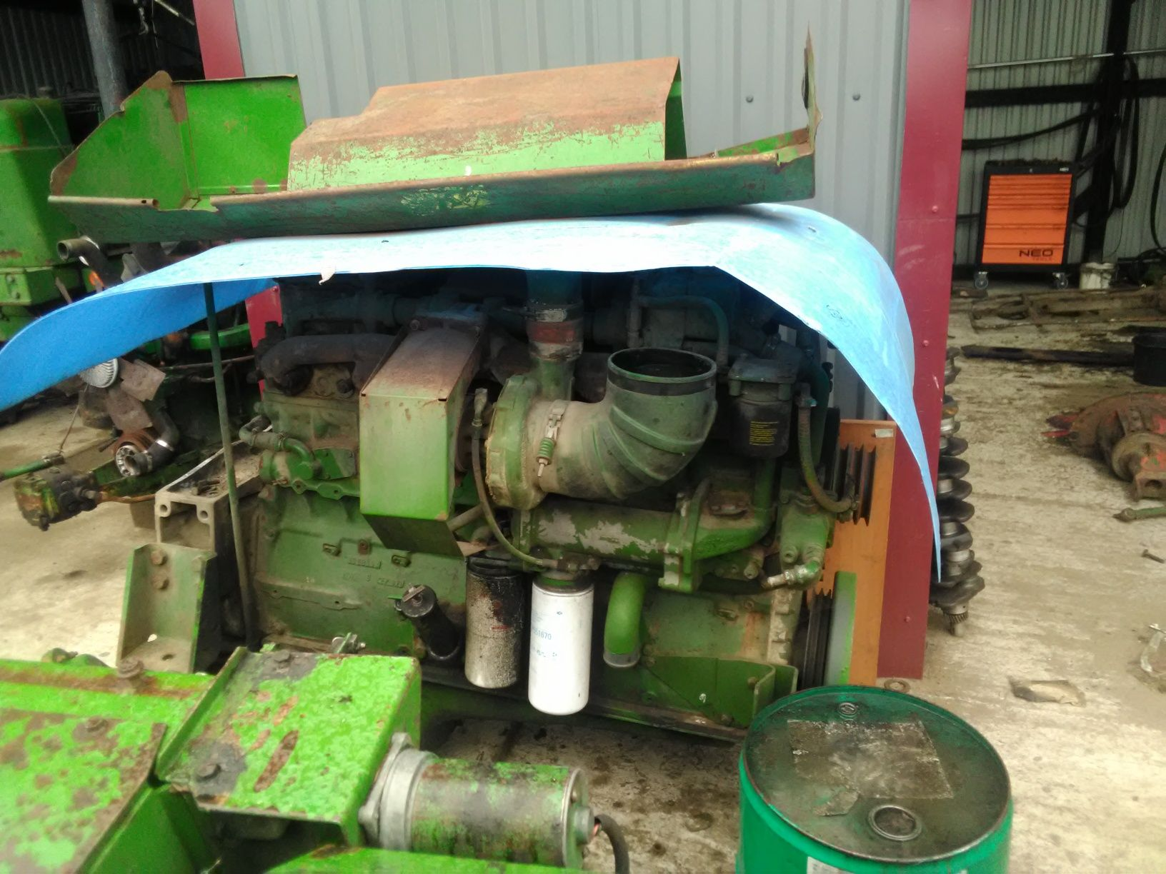 Silnik Cummins NTA 855, 400 KM sieczkarni John Deere 6810, 6910