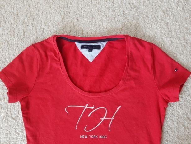 Tommy Hilfiger koszulka S/ XS czerwona nowa bez metki