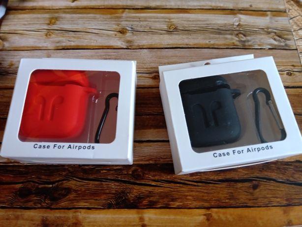 Etui/Case na słuchawki (silikonowe+karabińczyk). Nowe.