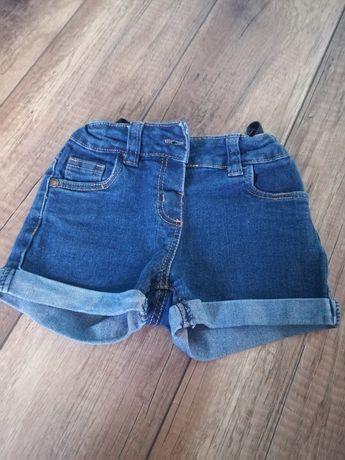 Jeansowe spodenki rozm 104