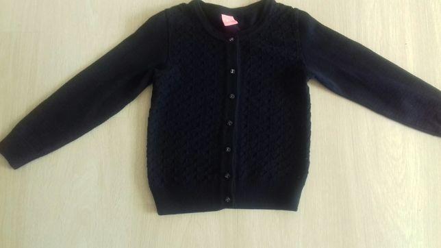 Кофта, свитер, кардиган, вязаная 116-122