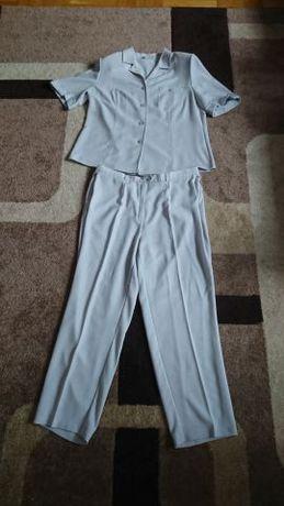 Komplet szary bluzka + spodnie r46 super na lato