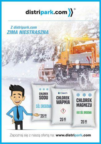 Sól drogowa chlorek magnezu 1,24 zł za kg z dostawą paleta 1250kg
