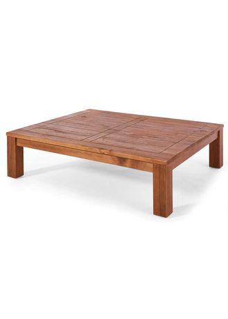 Duzy stolik ława drewniana z litego drewna na taras meble ogrodowe