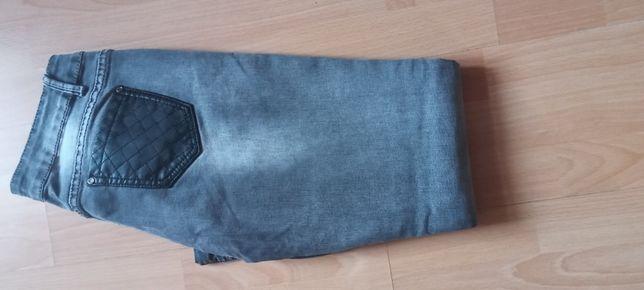Spodnie dżinsowe szare