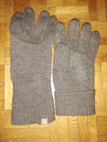 Rękawiczki damskie 100% merino stan bdb