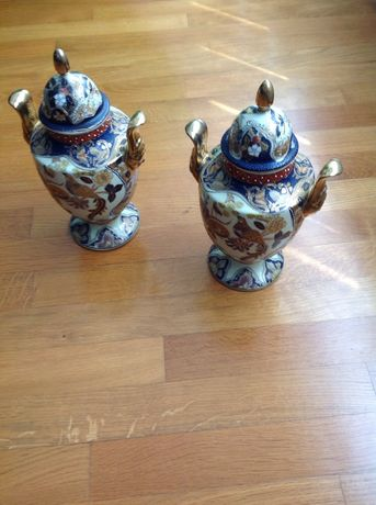 Potes de porcelana de coleção chinesa em excelente estado